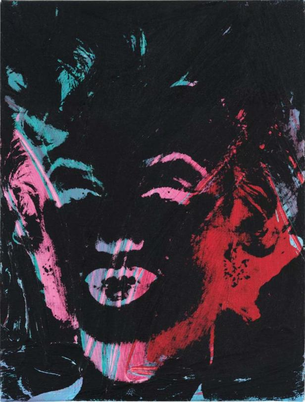 """""""1 Colored Marilyn (reversal series)"""" by Andy Warhol, which is being made available for just $20 a share."""