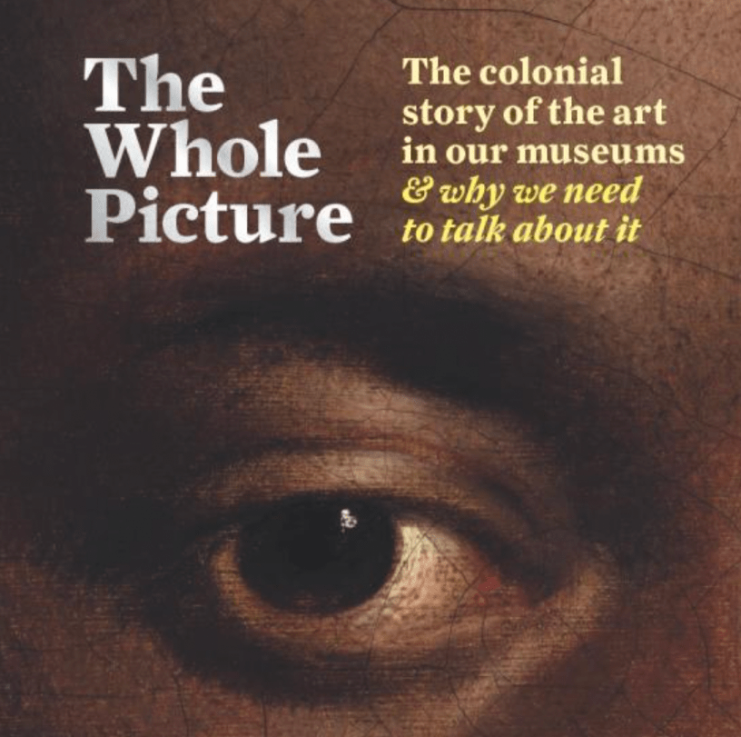 Section of the Cover of the book. It includes the author's name, title and a work of art (an eye of an African-American man).