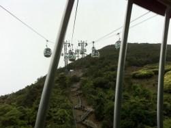 Cable car ride to the peak at Ocean Peak