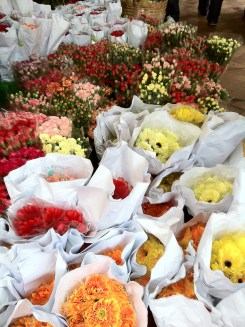 fresh flowers at the trading market