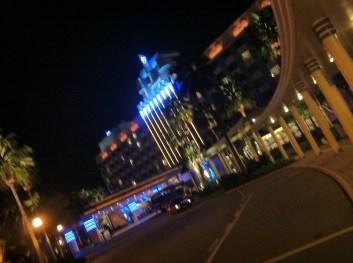 HK Hollywood Disney Hotel at night