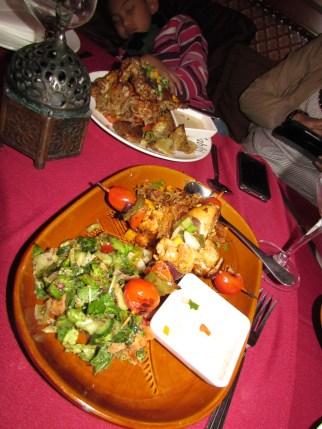 kebab at Habibi...had dinner there..