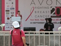 One of the breast cancer survivor gave an emotional but a very educational speech on her experience