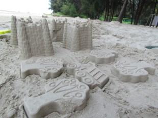 building sand castle