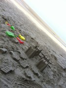 Sand castles again the sea lol