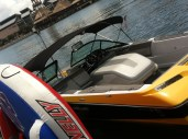 One of the speedboats