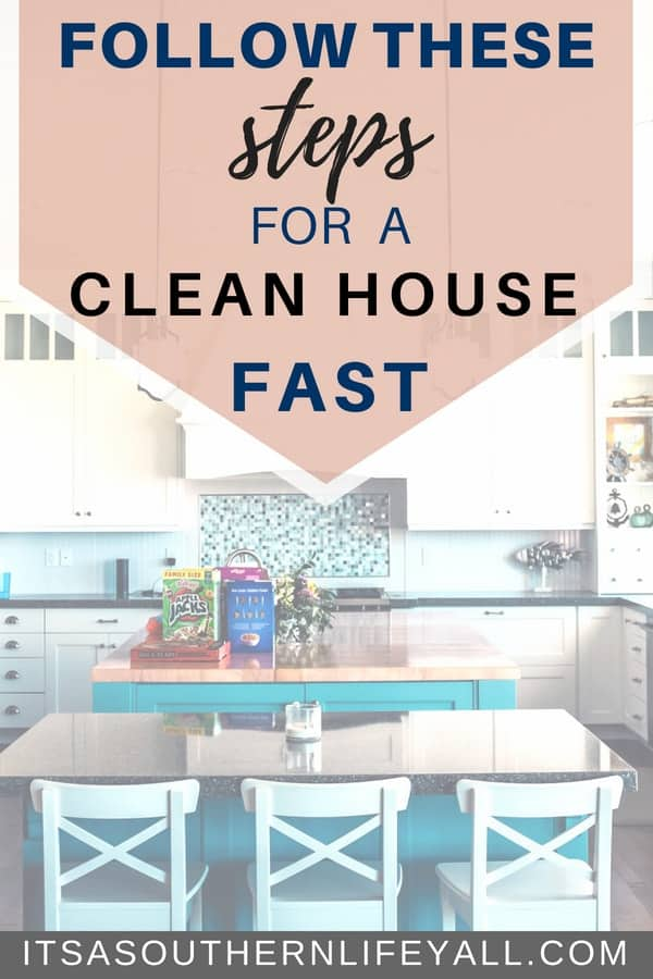 Cleaning tips to quickly tidy and clean your home. Want a clean house fast? Download the printable with the steps to clean your house company clean fast.
