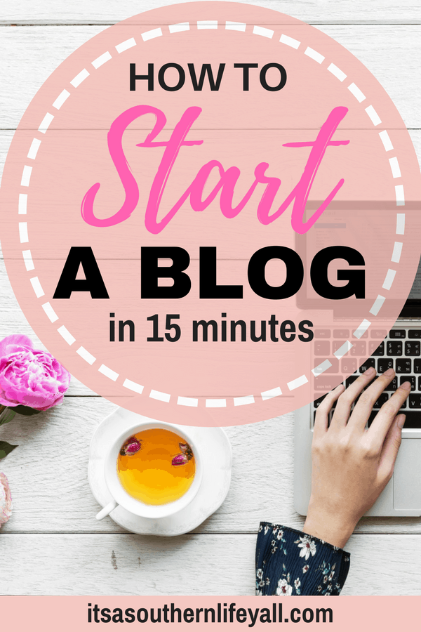 how to start a blog in 15 minutes feature