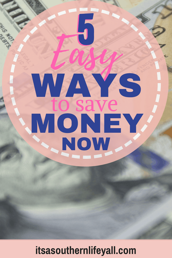 Picture of money with 5 easy ways to save money now text overlay - Stop Using Alt Tags for Pinterest Pin Descriptions