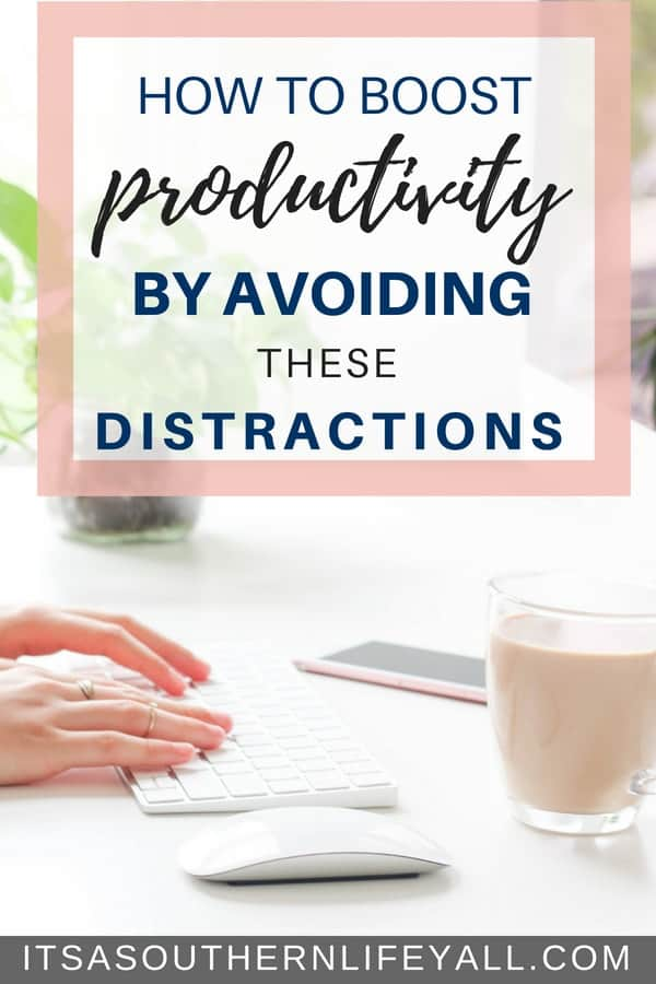How to boost productivity by avoiding these distractions and maximize your time management skills. These 5 habits are easy distractions from meeting your full potential. Find simple ways to avoid them.