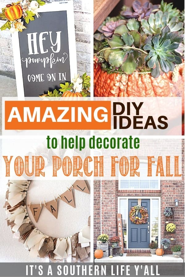 Amazing DIY ideas to help decorate your porch for fall. Simple and quick fall exterior decor.