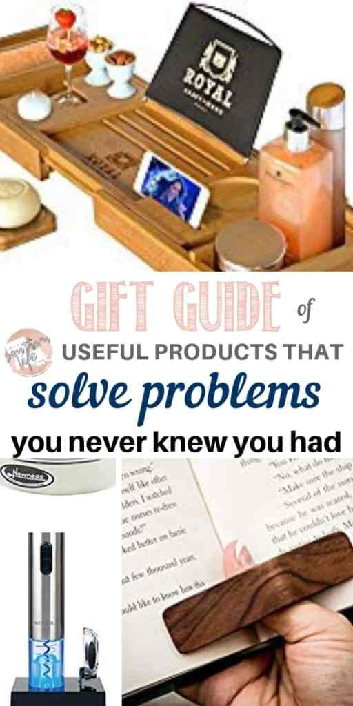 Gift guide of useful products that solve problems. Find a gift for Christmas or other occasions for people that have everything.
