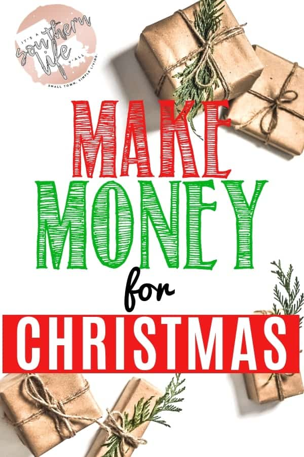 Easy ways to make money for Christmas. Creative side hustles to help you stay debt free this holiday season. Work from home to make extra money to pay for Christmas gifts without breaking the bank.