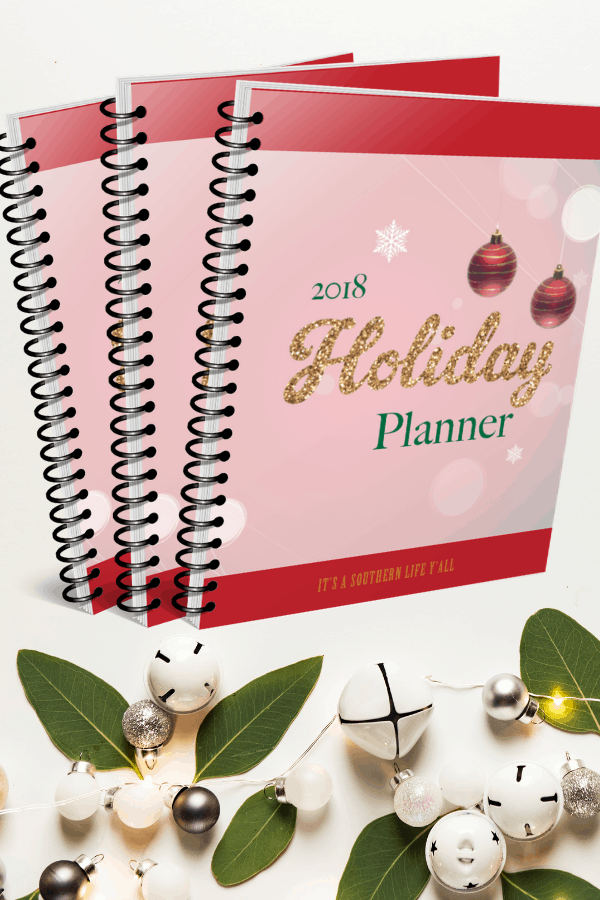 2018 Holiday Planner by It's a Southern Life Y'all