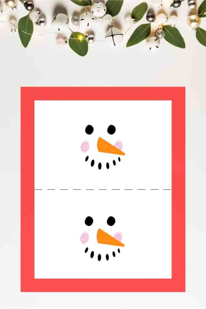Grab your Copy of the Candy Bar Snowman Template