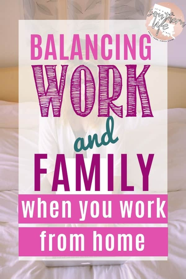 Create a daily schedule and routine to help you balance work and family when you work at home. Using the proper plan will help you with time management and productivity.