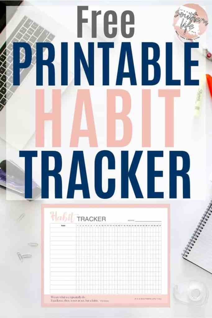 Use this free printable habit tracker to keep tack of and achieve your goals. This daily habit tracker will help you develop positive daily routines and accomplish your goals.
