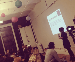 Lecturing @ the WIX Lounge. Packed house + audience oozing with such potential.