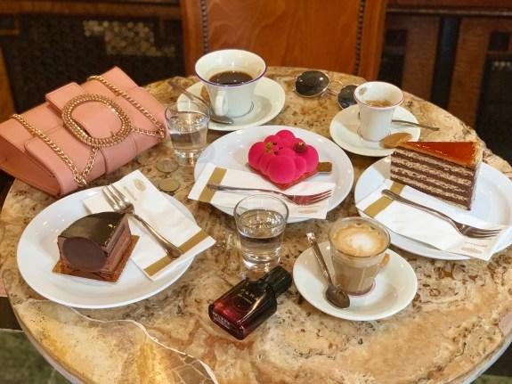 budapest hungary europe buda castle gerbeaud castle dessert coffee