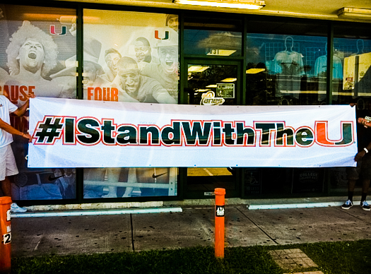 miami hurricanes i stand with the u #istandwiththeu allcanes florida state james coley al golden ncaa sanctions