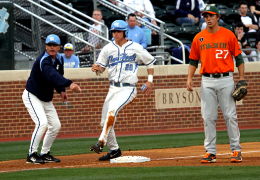 miami hurricanes north carolina tar heels baseball chapel hill allcanes