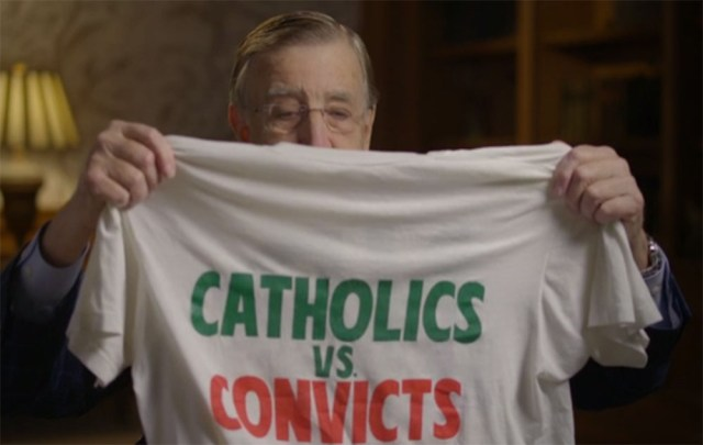 brent musberger cbs sports miami hurricanes notre dame fighting irish 30 for 30 catholics vs convicts
