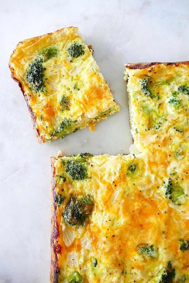 broccoli and cheese egg bake