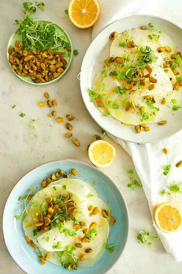 Vegan Shaved Kohlrabi Salad