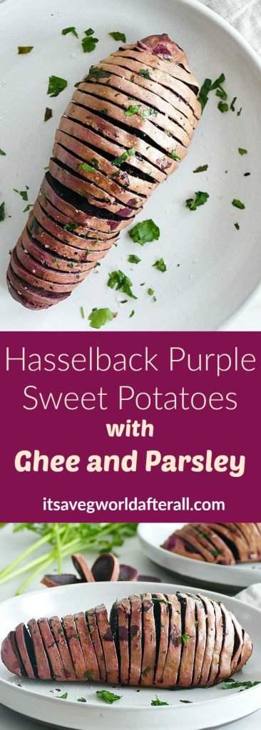 Hasselback Purple Sweet Potatoes