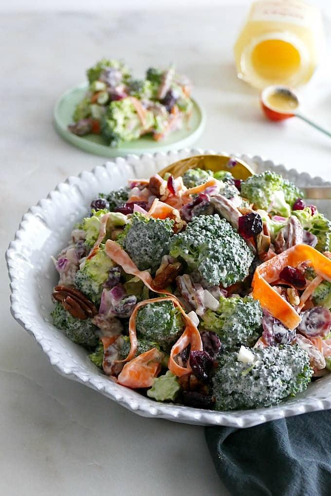 Healthy Greek Yogurt Broccoli Salad It S A Veg World After All