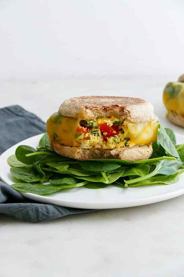 meal prep breakfast sandwiches