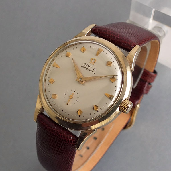 OMEGA 10K Gold Filled Gents Automatic Vintage Watch 1955
