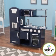 Kidkraft Navy Vintage Kitchen 53296 How To Protect Hardwood Floors In Red | Wooden Play Kitchens Uk