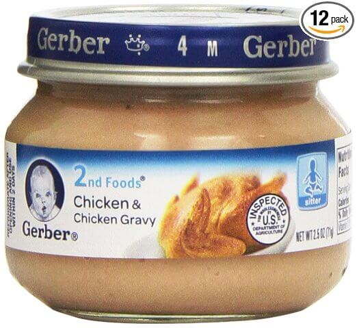 Gerber 2nd Foods Meats, Chicken & Chicken Gravy, 2.5