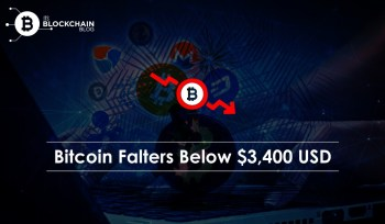 bitcoin falter below 3400