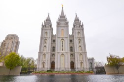 Salt Lake Temple in Temple Square in Downtown Salt Lake City