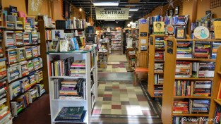 A selection of books at Central Book Exchange in Salt Lake City