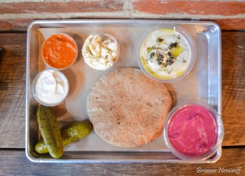 a pita platter from Shouk in Washington D.C.