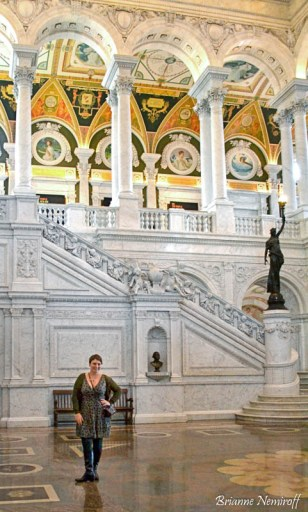 Brianne Nemiroff of It's Bree and Ben in the Library of Congress Jefferson Building