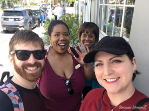 Brianne Nemiroff, Benjamin Hagerty with Brittany and Jo-Ann McClelland in Santa Barbara