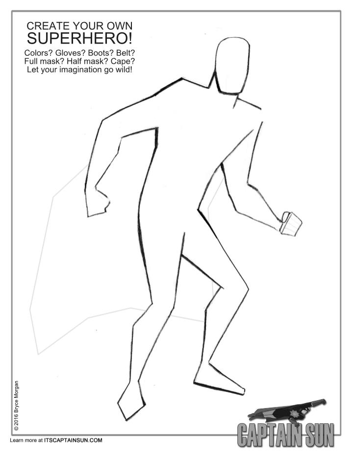 Create Your Own Superhero Worksheet : create, superhero, worksheet, Create, Superhero!, Captain, Adventures!