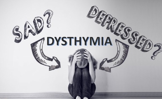 a girl having dysthymia and cannot express