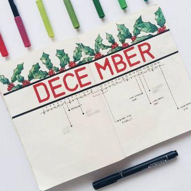 December Bullet Journal Timeline