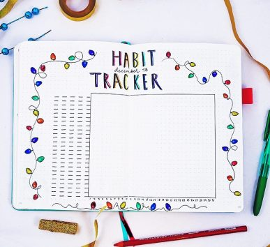 Christmas Inspired Habit Tracker