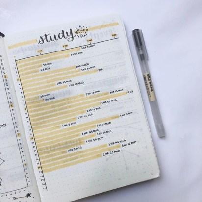 Bullet Journal Study Tracker