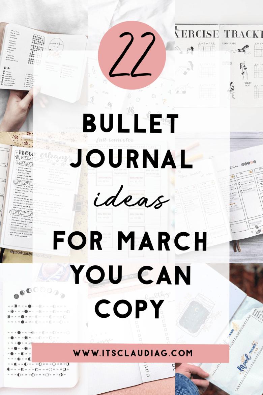 Bujo Ideas for March