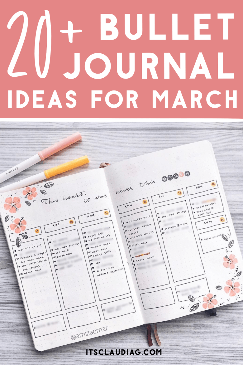 The Best Bullet Journal Ideas for March You Can Copy   Its Claudia G