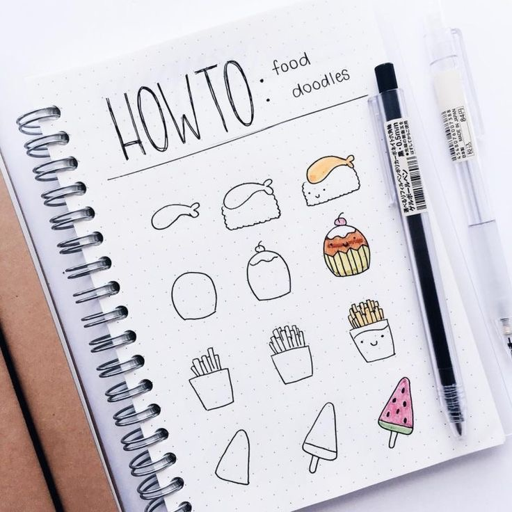 how to draw bullet journal spread