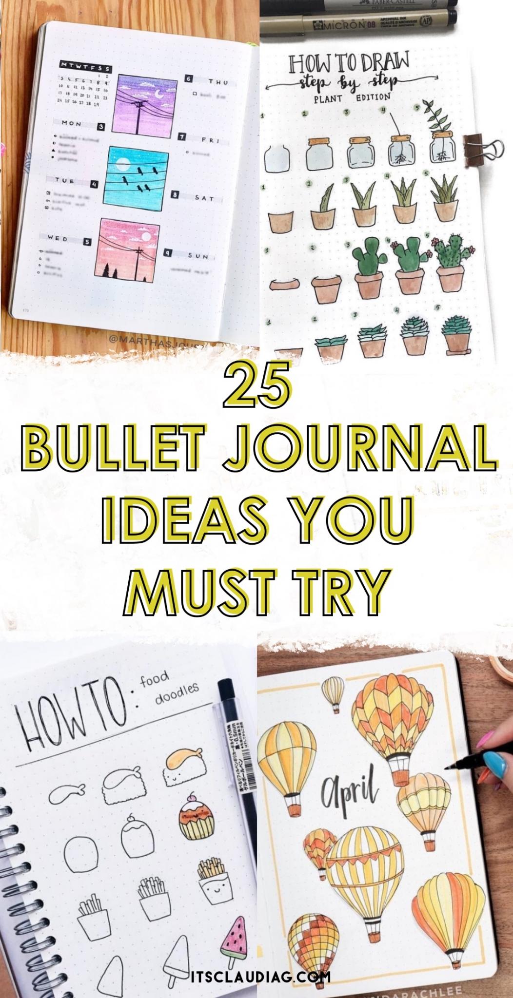Bullet Journal Ideas: 25 Bullet Journal Spread Ideas For April