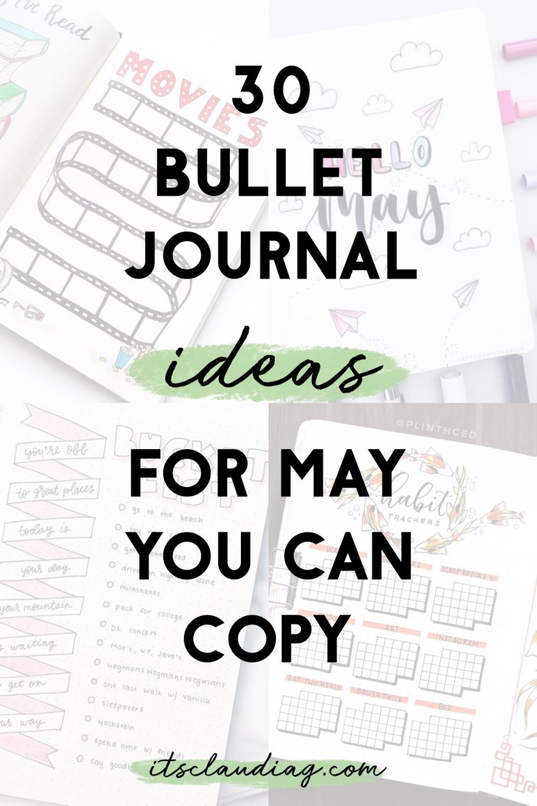 30 Bullet Journal Ideas for May